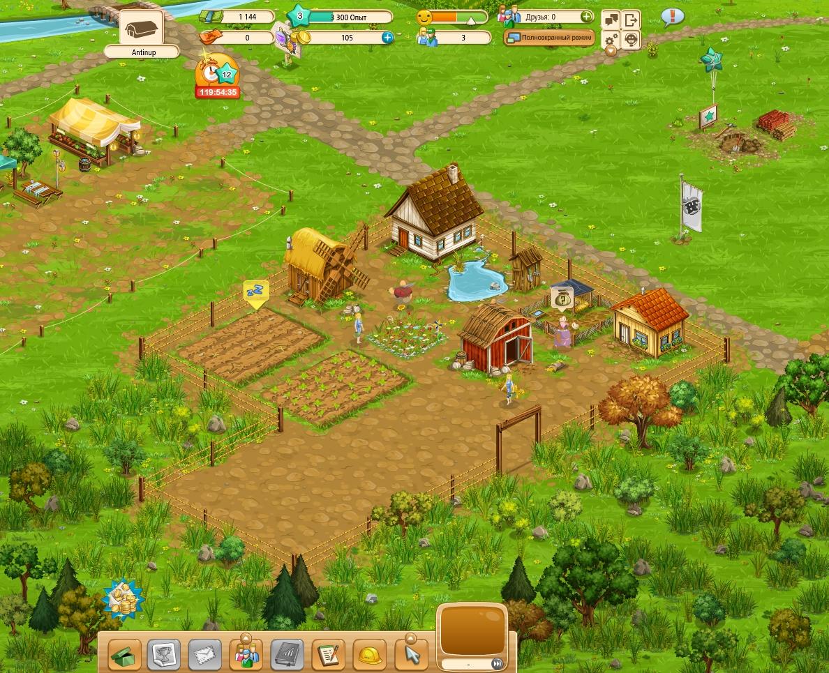 В начале игроку выдают совсем небольшой участок земли